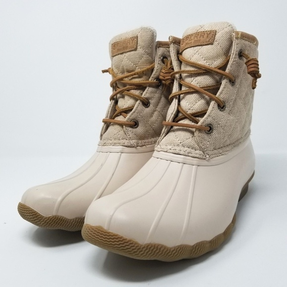 Sperry Saltwater Quilted Duck Boots M